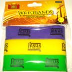 Wide Silicone Bracelet  Jesus is the Light  72 pcs per pk .16 each