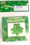 "9"" Inflatable Green Shamrock 12 per pk"