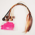 "12"" Braided Hair Strands on Mini Jaw Clip Asst Browntones .50 per set"