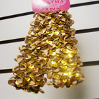 "2 Pk 1.5"" Stretch Sequin Headwraps All Gold .42 PER SET"