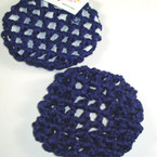 All Navy Blue Crochet Bun Cover .42 ea