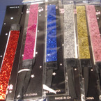".75"" Wide Glitter Stretch Headband Asst Colors  .55 each"