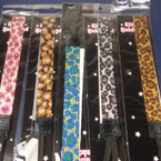 ".75"" Wide Glitter Stretch Headband Animal Prints  .55 each"