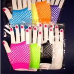 Fish Net Half Gloves Asst Bright Colors .50 per pair