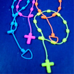 2 Pack Silicone Neon Color Friendship Bracelet Cross/Heart .54