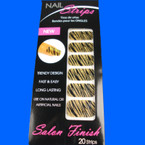 Trendy Nail Strips Gold Glitter Zebra Prints  ON SALE  .55 each