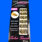 Trendy Nail Strips Gold Glitter Zebra Prints  ON SALE  .55 each