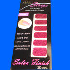 Trendy Nail Strips Fusia Glitter  ON SALE .55 ea