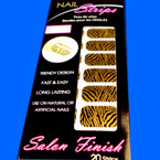 Trendy Nail Strips Gold Zebra Print ON SALE .55 each