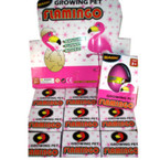 New Hatch Em Growing Pet Flamingo 12 per counter display bx .79 ea