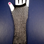 Fish Net Funky Gloves Long Size All Black .54 per pair