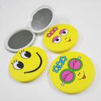 "3"" Yellow Emoji Theme DBL Compact Mirror .56 each"