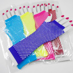Long Fish Net Fashion Gloves Neon Colors  .54 per pair