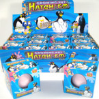 New Hatch Em Growing Pet  Penguin ind boxed in a colorful counter unit .79