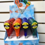 "New 5"" tall Twist Pen w/ 3 Ft Tape Measure 24 pc unit - asst colors .62 EACH"
