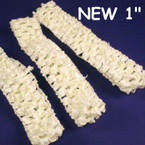 "3 Pk 1"" Wide Stretch Crochet Headwraps All Ivory-CLOSEOUT .08 ea"