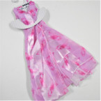 "Pink Ribbon Scarf 9"" X 57"" All Pink 24 per pack  $1.20 ea"