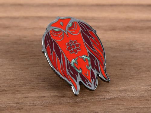 Red Hawk Enamel Pin