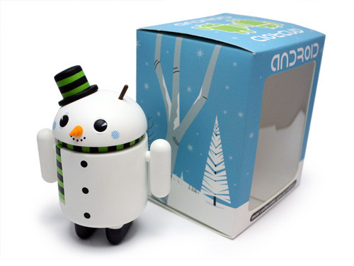 Snowman and box