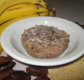 Banana Millet Pudding