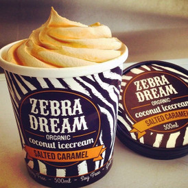 Zebra Dream Organic Coconut Icecream