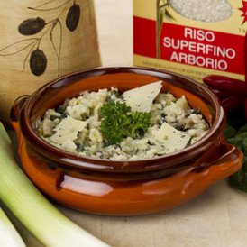 Baby Spinach & Mushroom Risotto