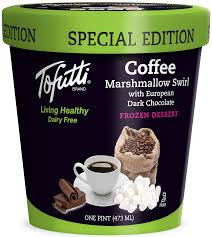 Tofutti Dairy Free Coffee Frozen Dessert with Dark Chocolate and Marshmallow Swirl