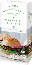 Linda McCartney's 4 Vegetarian Burgers