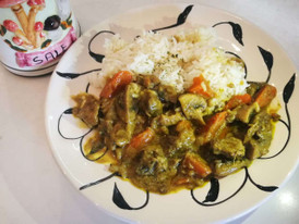 Japanese green curry