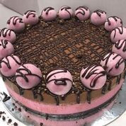 Raw choc raspberry cheesecake-whole cake