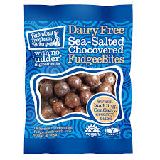 Dairy free sea-salted chocovered fudgee bites