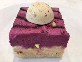 Raw Lemon Blueberry Cheesecake- one piece