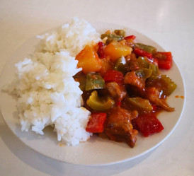 Sweet & sour 'pork' with pineapples ( Low-FODMAP)