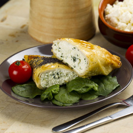 Ricotta & Spinach Filo Triangle