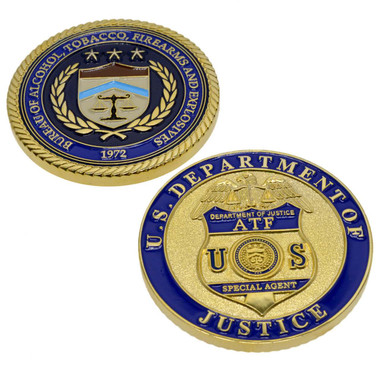 ATF& E Special Agent Badge Challenge Coin