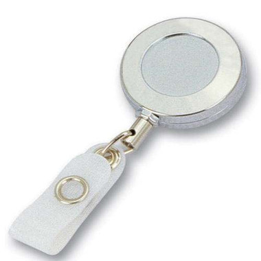 Chrome Metal Retractable Badge Reel ID Holder