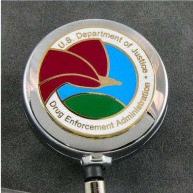 DEA Drug Enforcement Administration Logo Retractable ID Holder