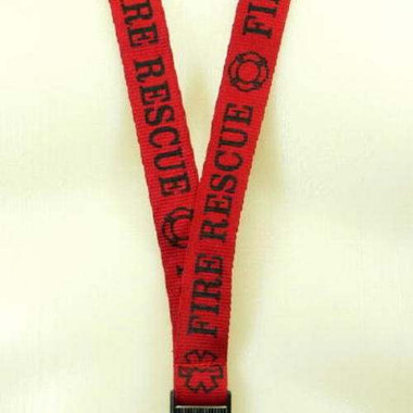 Fire Rescue EMT Lanyard Key Ring