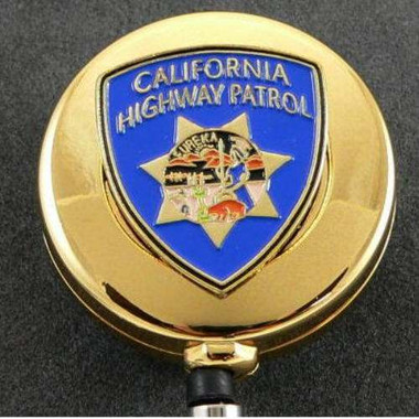 CHP California Highway Patrol Patch ID Holder Reel