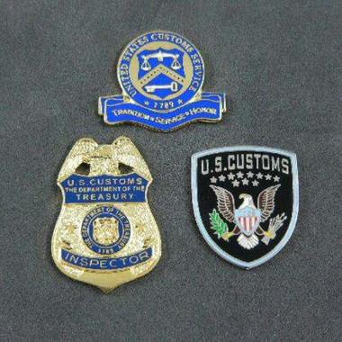 U S Customs Inspector Pin Set