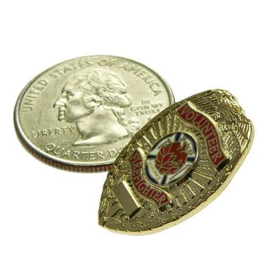 Volunteer Firefighter Mini Badge Lapel Pin