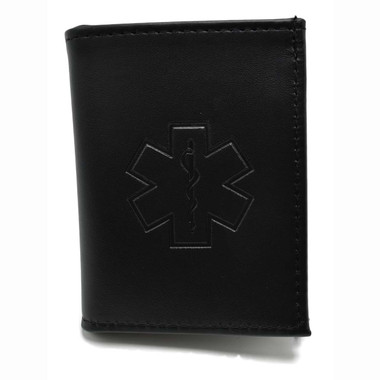 Star of Life EMT Paramedic Wallet w/ CC slots & ID Window
