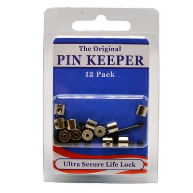 12 Pack Pin Keeper Locking Pin Back