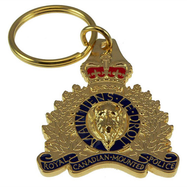 Royal Canadian Mounted Police (RCMP) 3D Crest Key Ring