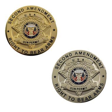 2nd Amendment Right to Bear Arms Lapel Pin