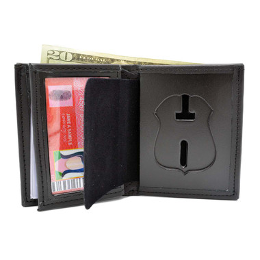 Detroit Police Leather Hidden Badge Wallet Perfect Fit 104