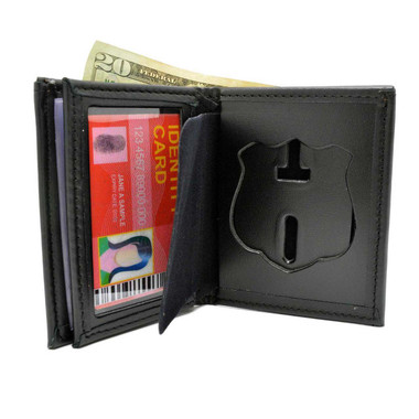 Houston Police Officer Leather Hidden Badge Wallet Perfect Fit 104