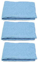 "Blue Microfiber Polishing Cloth 16"" x 16"""