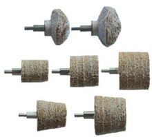 Drill Mounted Sisal Goblet Cylinder & Dome Mop Kit 7pce