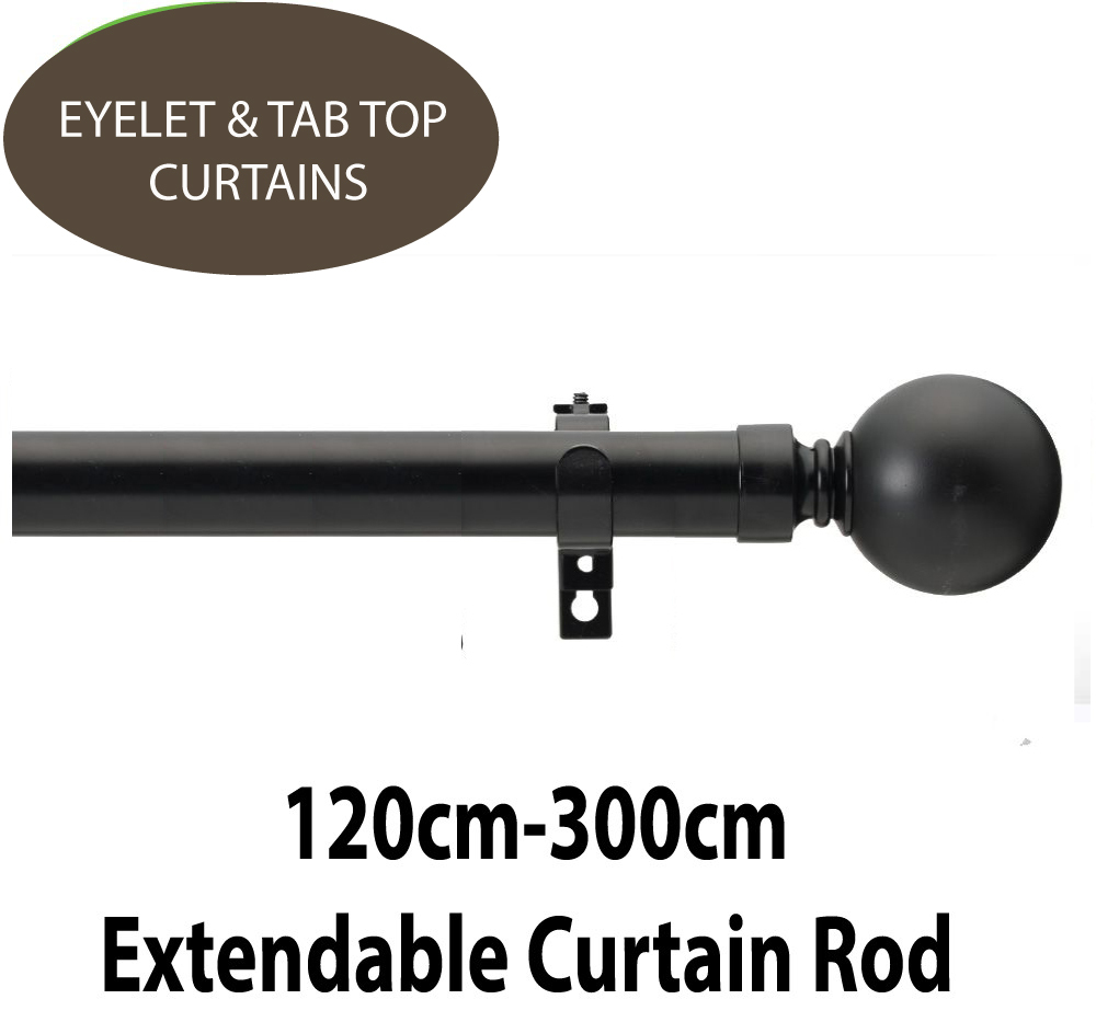 black eyelet pencil and pinch pleat quality curtain rods. Black Bedroom Furniture Sets. Home Design Ideas